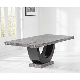 Rivilino Dark Grey Marble Dining Table